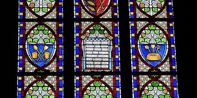 Das Fenster der Nikolaikirche erinnert noch immer an die Brauer © Böhnlein/Lachenicht/Müller