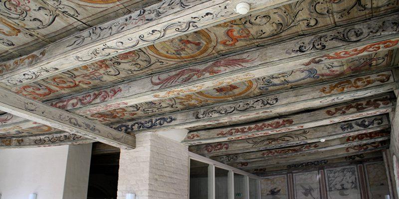Restaurierte Deckenmalereien im zweiten Obergeschoss des Heinrich-Heine-Hauses. © Eikel/Jessen