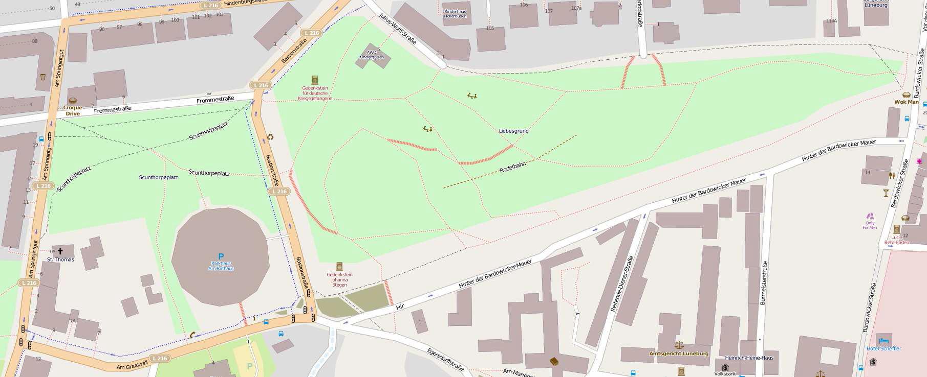 Lageplan, Open Street Map