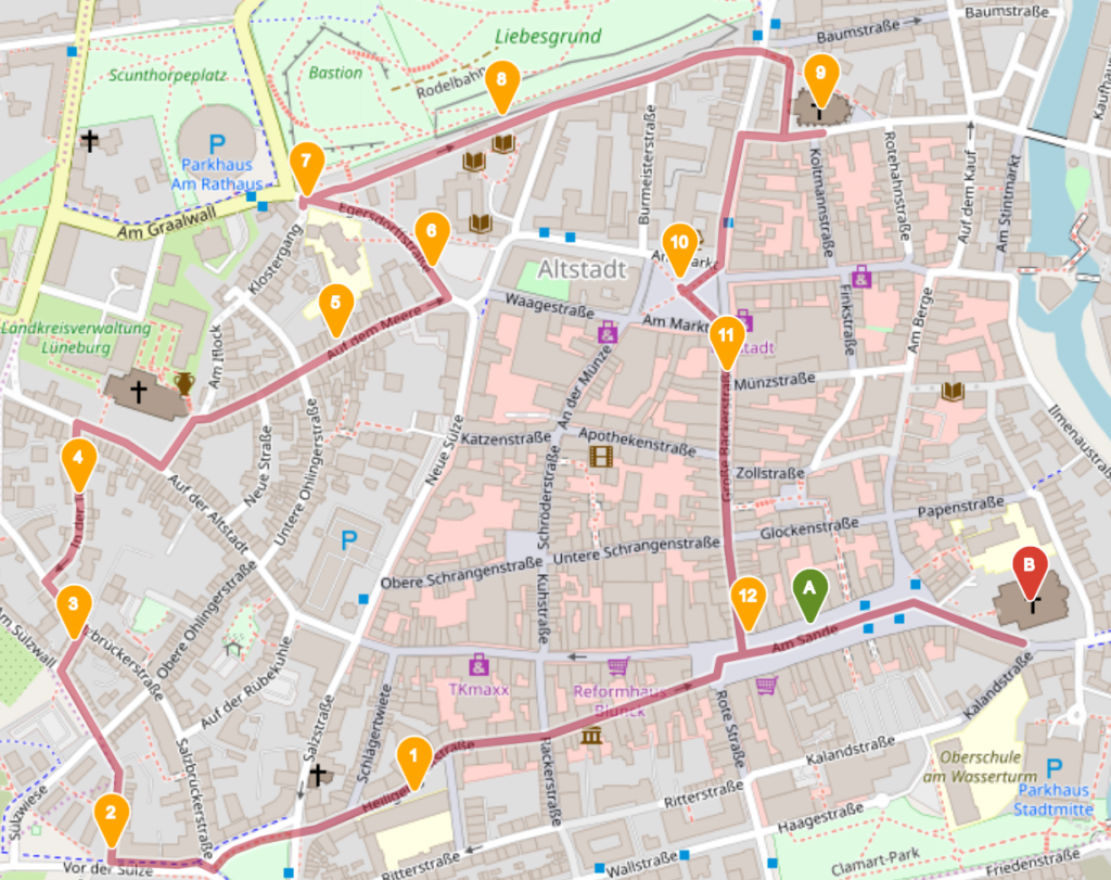 Sagentour, Open Street Map