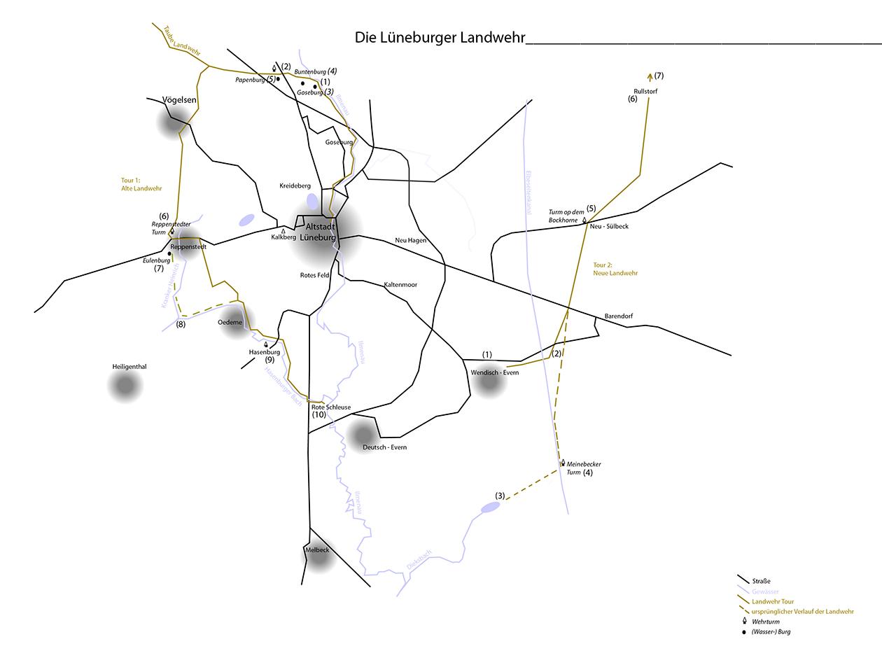 Das Lüneburger Landwehrsystem © Michelberger/Schwambach