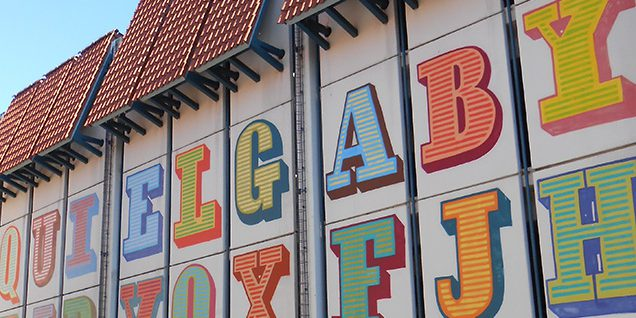 Ben Eine: Graffiti. Parkhaus Karstadt. Auf dem Wüstenort © Ludley/Bergmann