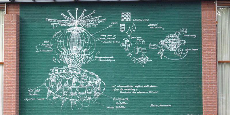16. Daniel Man: Graffiti. UC Hörsaal 4, Rückwand © Ludley/Bergmann