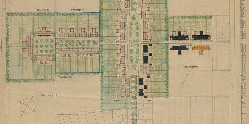"""Siedlungsplan für das """"Mittelfeld"""", 1924 © Stadtarchiv Lüneburg, StadtALg, K 14 C 149"""