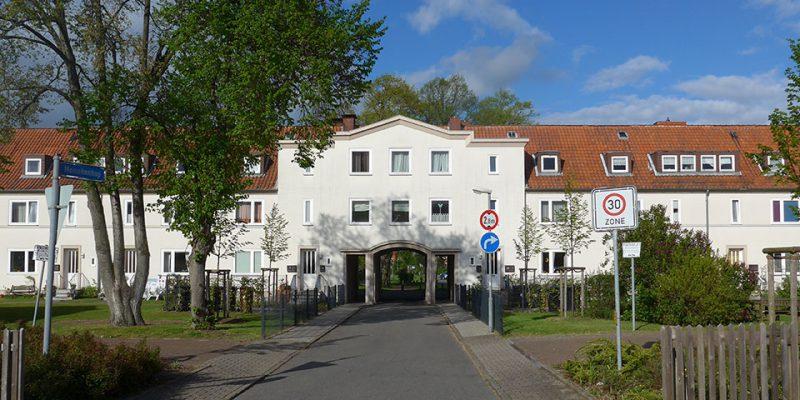Repräsentativer Eingang zum Meinekenhop © Götz/Ruhkopf