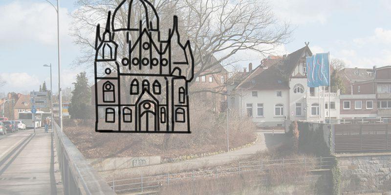 Synagoge Schifferwall: Nicht einmal fünfzig Jahre stand hier die Lüneburger Synagoge. © Köster/Seebo