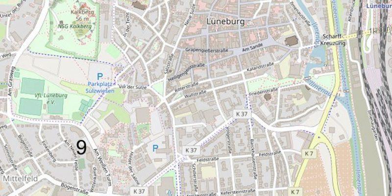 Karte Lage des jüdischen Friedhofs © Open Street Map