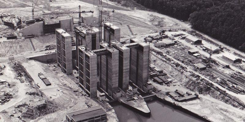 Schiffshebewerk Scharnebeck im Bau (1972) © Wasser- und Schifffahrtsamt Uelzen