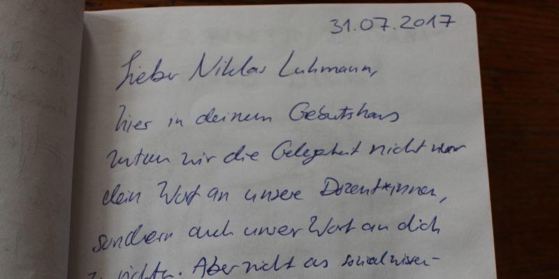 """Eintrag im Gästebuch des """"Pons"""" © Lamm"""