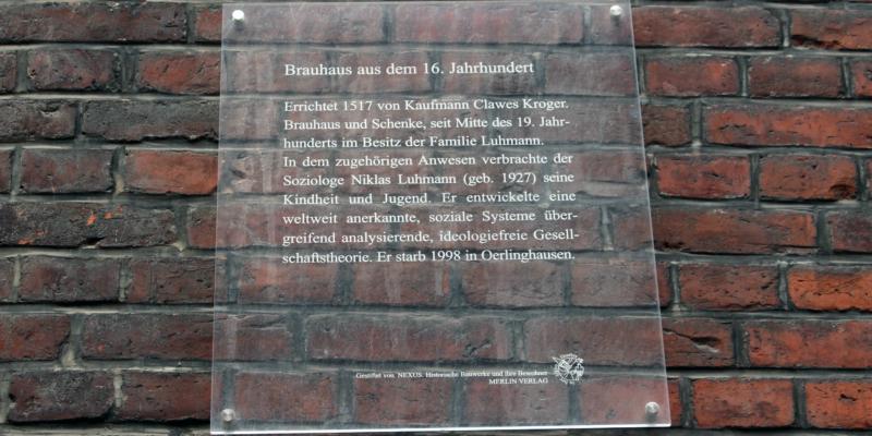 Gedenktafel in der Lüner Straße © Lamm