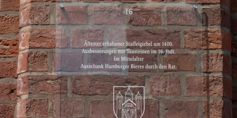 Denkmaltafel der Stadt Am Sande 53 © Langemeyer
