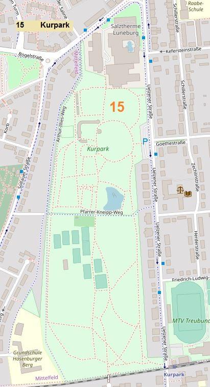 Kurpark © Open Street Map
