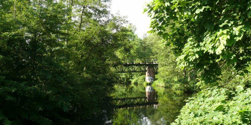 Die Ilmenau mit Eisenbahnbrücke © Stumpe