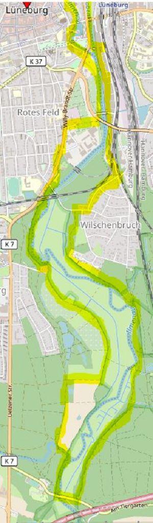 Die Südschleife der Ilmenau-Radtour © Open Street Map