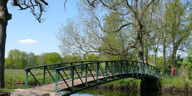 Die Teufelsbrücke verbindet den Düvelsbrook mit dem Tiergarten © Stumpe