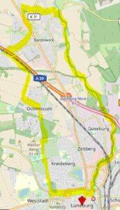 Die Nordschleife der Ilmenau-Rundtour © Open Street Map