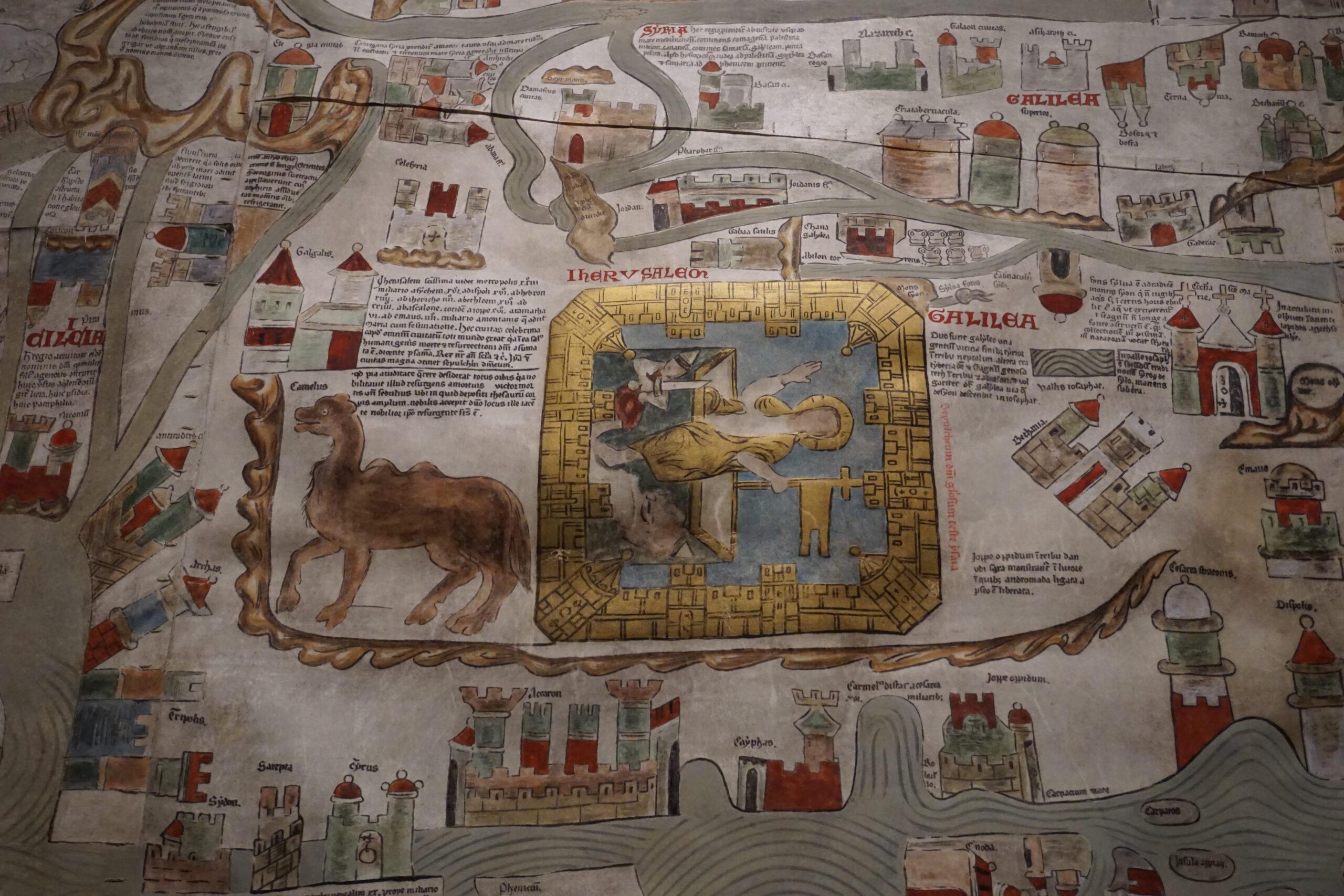 Jerusalem im Zentrum der Ebstorfer Weltkarte © Hardt/Gelbe