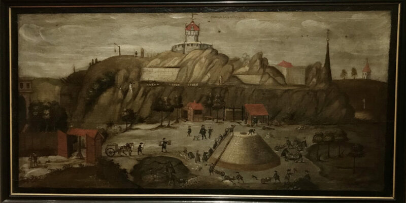 """Abbildung des Kalkbergs bey Lüneburg 1592"", Kopie aus dem 17. Jh., Museum Lüneburg © Dahmen"