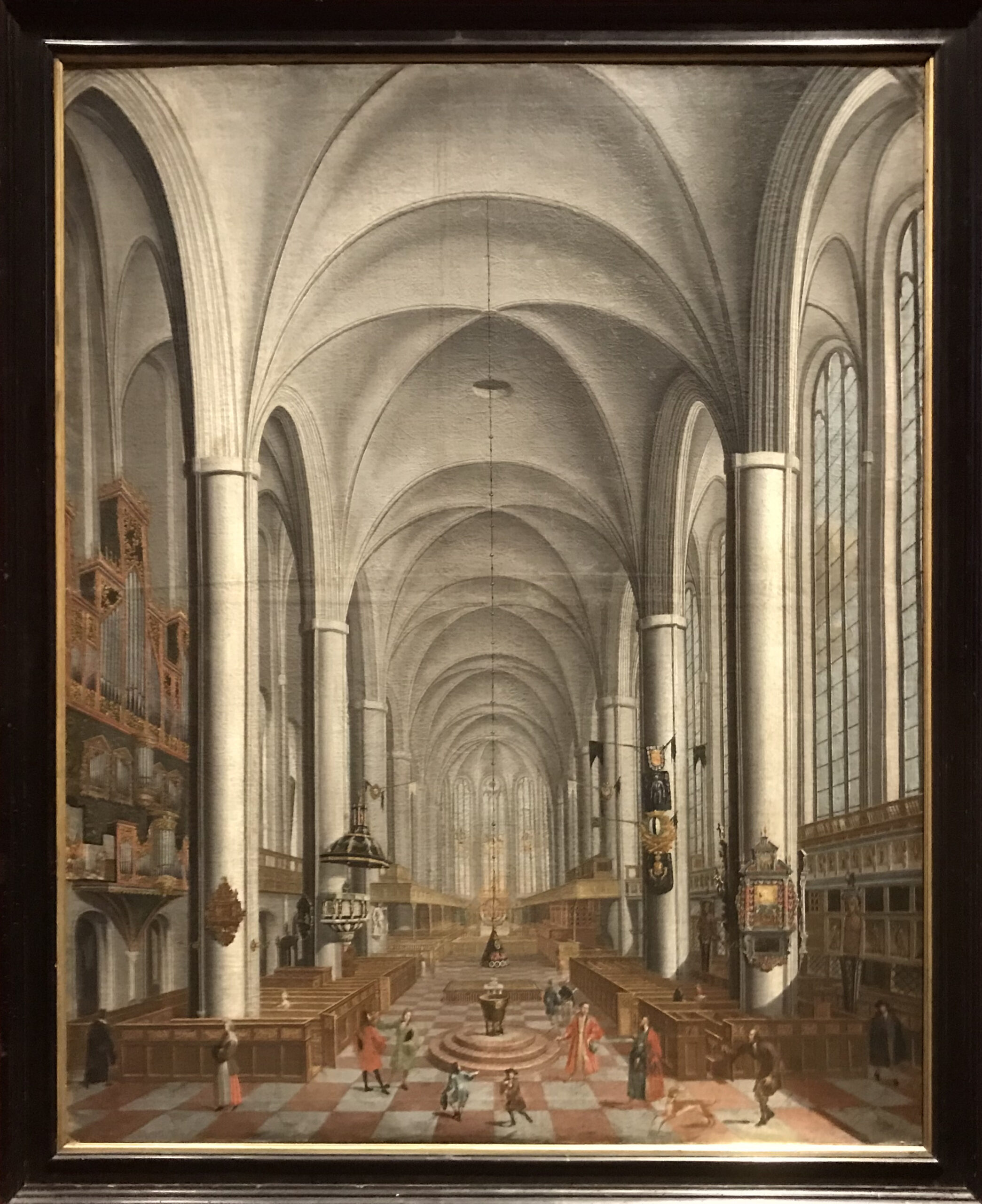 Das Kicheninnere von St. Michaelis, Lüneburg. Gemälde von Joachim Burmester um 1700 © Dahmen